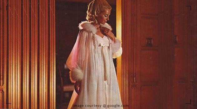 Fashionable nightwear in 1960s